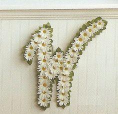 Monogram with Flowers!