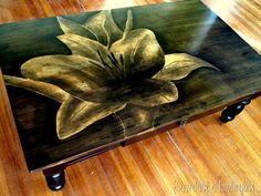 Shading technique using stain - would love to do this on my coffee table!