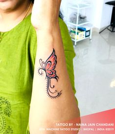 Mom Dad Tattoo Designs, Tattoo Design For Hand, Tattoo Designs Wrist, Tattoo Designs For Women, Butterfly Wrist Tattoo, Butterfly Tattoo Designs, Wrist Tattoos For Women, Professional Tattoo, Tattoo Set