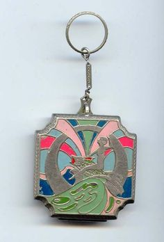 Fisher Art Deco Figural Compact