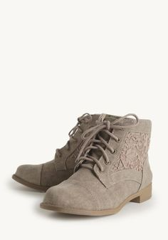 sand colored adorable booties feature #lace #boots