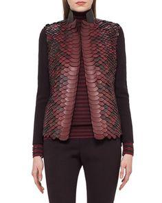 Python-Embellished+Leather+Jacket,+Aubergine+by+Akris+at+Neiman+Marcus.