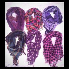 Scarf bundle 6 scarves (multi colors) Accessories Scarves & Wraps