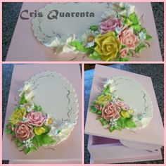 caixa decorada com rosas