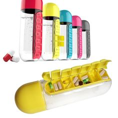 Best Water Bottle Daily Pill Storage Organizer Box Outdoor Drinking Bottles Anti-leak Drinkware is hot-sale at wholesale prices now, buy Water Bottle Daily Pill Storage Organizer Box Outdoor Drinking Bottles Anti-leak Drinkware and be enjoyable Mobile. Cute Water Bottles, Pill Bottles, Drink Bottles, Bottle Bottle, Pill Box Organizer, Organiser Box, Stainless Steel Types, Thermal Insulation, Candy Colors