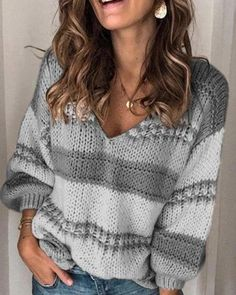 Loose Sweater, Sweater Coats, Sweater Shop, Long Sleeve Sweater, Casual Sweaters, Winter Sweaters, Vogue Knitting, Cardigans For Women