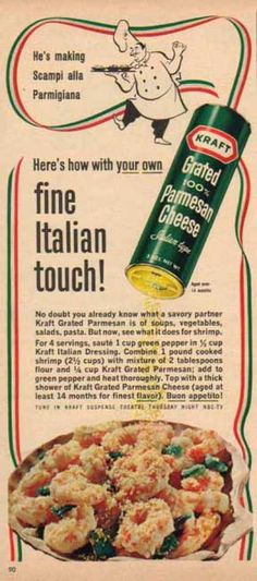 Kraft Grated Parmesan Cheese (1965)