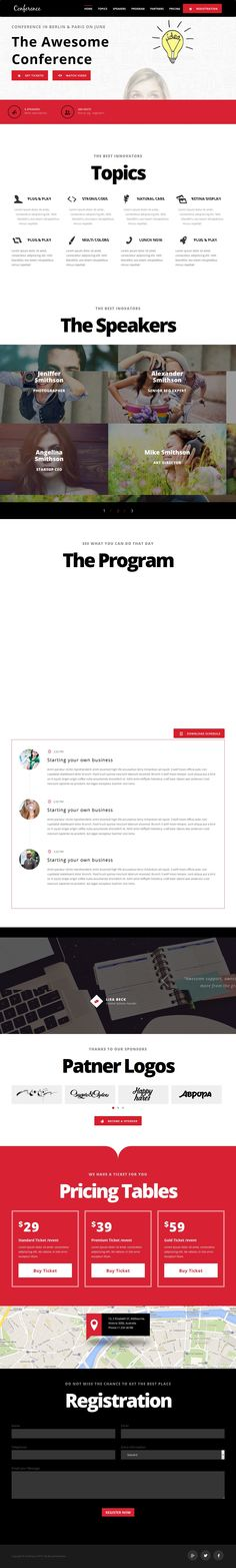 Conference - Events Landing Page Template | Buy and Download: http://themeforest.net/item/conference-events-landing-page-template/8318065?WT.ac=category_thumb&WT.z_author=mustachethemes&ref=ksioks