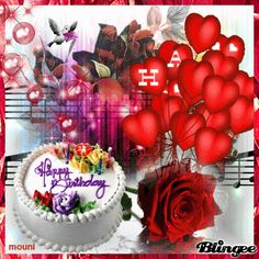 Happy Birthday Wishes Images, Happy Birthday Celebration, Happy Birthday Fun, Happy Birthday Greetings, Happy Brithday, Birthday Frames, Valentine Day Wreaths, Happy Birthday Photos, Good Night Msg