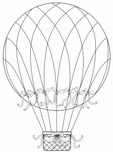 hot air balloon free digital stamp