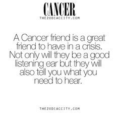 I love you cancers for that reason Alone