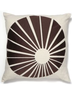 Sunburst Embroidered Pillow: I adore graphic pillows like this.