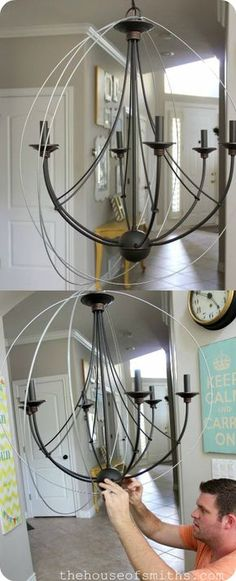 DIY Orb chandelier tutorial