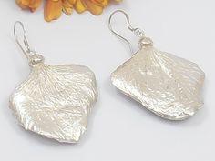 Silver Orchid Earrings  Bridesmaids  Earrings by MeropisArtJewelry