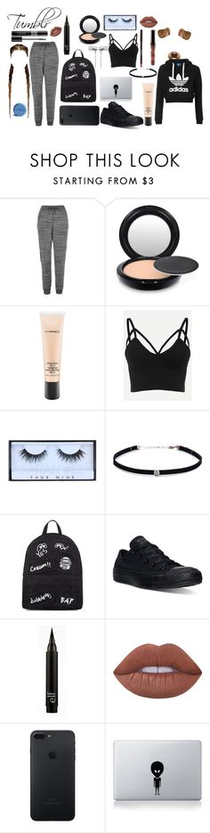 """Tumblr"" by polyvore-outfits909 ❤ liked on Polyvore featuring adidas Originals, Topshop, MAC Cosmetics, Christian Dior, Huda Beauty, Carbon & Hyde, Mini Cream, Converse, Lime Crime and Vinyl Revolution"
