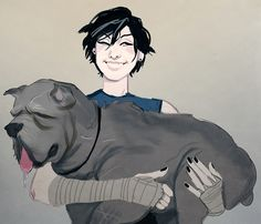 pheberoni:  Hawke's mabari is OLD and RETIRED, her name is Penelope and shes beautiful