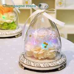 Glass bottles Fresh Preserved Rose Flower Immortal Colorful Roses BLUELOVER for Girl Valentine's Day Wedding Gifts Home decor