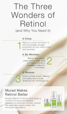 Think your skin's too sensitive for Retinol? Murad took the benefits of Retinol and made them better with Retinol Tri-Active Technology—found in Retinol Youth Renewal Serum, Eye Serum, and Night Cream. A fast-acting Retinoid, a time-released Retinol and a Beauty Skin, Health And Beauty, Les Rides, Skin Tag, Eye Serum, Tips Belleza, Collagen, Skin Care Tips, Whitening