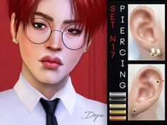 The Sims Resource: Piercing Set N17 by Pralinesims • Sims 4 Downloads