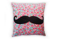 Moustache Cushion   Chloe Owens