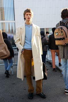 Phil Oh is on the (icy) ground covering the best looks outside the men's and women's shows. Don't miss his daily updates here.