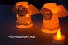 bricolage lampion ange
