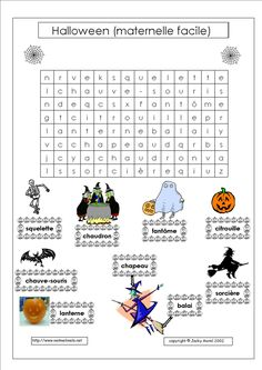 Halloween maternelle facile Theme Halloween, Halloween Crafts, Happy Halloween, Halloween 2018, French Teaching Resources, Teaching French, Preschool Spanish, French Kids, Thanksgiving Parties