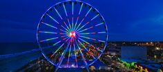 Myrtle Beach Skywheel's light show. Awesome!