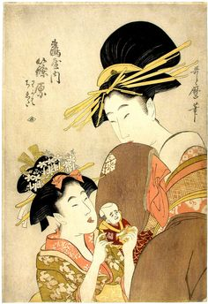 Artist: Kitagawa Utamaro.    Title: The courtesan Shinohara.    Date: 1804