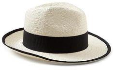 Grosgrain-Trim Panama Hat
