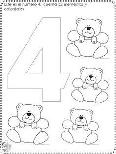 Numbers Preschool, Preschool Worksheets, Preschool Activities, School Fun, Pre School, Kinder Mat, Number Crafts, Class Decoration, Math Lessons