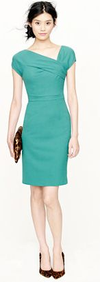 "Unofficially, it's ""green dress day"" at Brides! I'm rocking this new ""origami"" style from J. Crew. Cute, oui?"