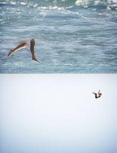 photo #ocean #legs #surface #photography #sea #reversed #swim #swimming