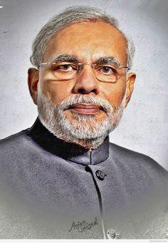 Digital Painting Of Honorable PM Narendra Modi