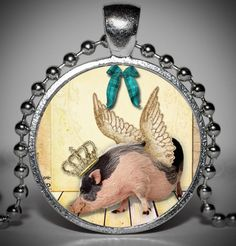 LOL, what a hoot! Pig with Wings Pendant and Necklace, starts at $10.