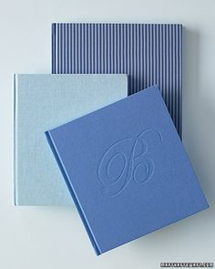 Beautiful shades of blue for a guestbook