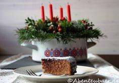 Weihnachtlicher Schoko – Mandel – Kuchen