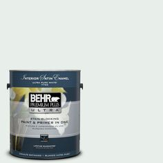 BEHR Premium Plus Ultra 1-gal. #700E-1 Dew Drop Satin Enamel Interior Paint