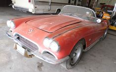 The seller of this 1962 Corvette claims that it's a hot rod. They also claim that it is a two-owner car with only miles on the clock! 1962 Corvette, Chevrolet Corvette, Classic Corvette, Corvette Convertible, Abandoned Cars, Barn Finds, Hot Cars, Classic Cars, Autos