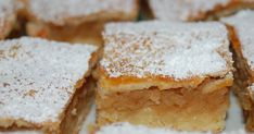 Almás pite (pastry will with apple and topped with powdered sugar; mmmm so yummy) Hungarian Cuisine, Hungarian Recipes, Hungarian Food, Cake Recipes, Dessert Recipes, Country Cooking, Polish Recipes, No Bake Desserts, Let Them Eat Cake