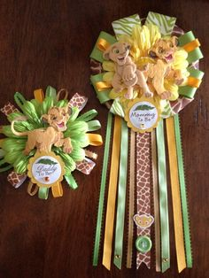 Lion King Mommy and  Daddy To Be Corsage Set by AngelinaBellaFina, $40.00