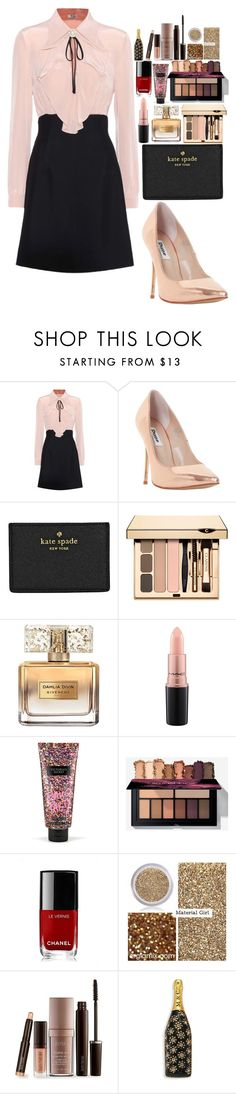 """""""nice"""" by amila-lugavic ❤ liked on Polyvore featuring Miu Miu, Dune, Kate Spade, Givenchy, MAC Cosmetics, Victoria's Secret, Chanel, Material Girl, Laura Mercier and Marc Jacobs"""