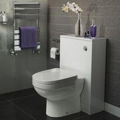 500mm Gloss White Slimline Back To Wall Toilet Unit - Sabrosa II [PT-POR2207] - £239.99 : Platinum Taps & Bathrooms