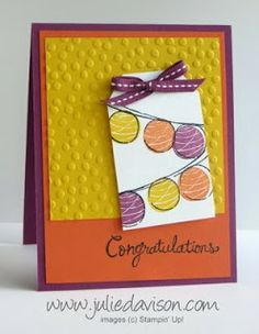 Stampin' Up! Occasions & Sale-a-bration Sneak Peek: Happy Congratulations with Decorative Dots Embossing Folder
