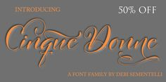 Cinque Donne font - Use Blog50OFF for 50% off! Limited time!