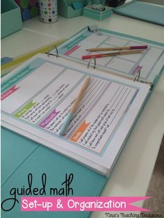 Guided math Set up and organization- lots of pictures, tips and a FREEBIE! How to implement 3 part lesson, organize and assess!