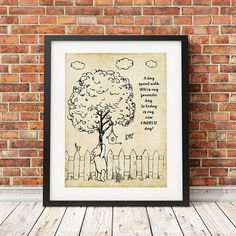 Who doesn't love the classic Winnie the Pooh! A unique design for a nursery or child's room. Maybe a classroom? Baby shower gift? Teacher's gift? - Available in 3 sizes, 5x7, 8x10 and 11x14. Special s