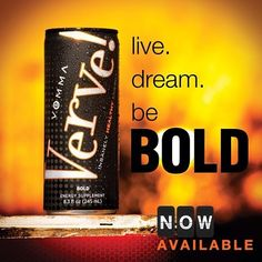 #energy #drinks Verve Bold gives you feel good energy that can help you get from Point A to Point B. In each can of Verve Bold, you get the benefits of the Vemma formula (including vitamins, minerals and premium antioxidants), plus with 120 milligrams of natural caffeine, it's a healthy boost of energy for your body! With only 5 grams of natural sweeteners you can enjoy the energizing benefits of Verve Bold while avoiding sugar content. get yours at www.yhoffman.vemma.com