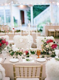 chic candle wedding...