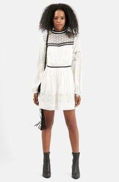 Lucille Mae: Nordstrom Topshop Velvet Lace Dress
